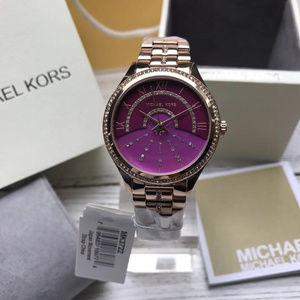 Lauryn Rose Gold-Tone Three-Hand Watch MK3722
